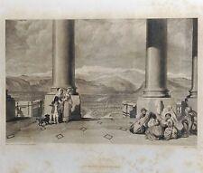 ITALY, TURIN. GRABADO ORIGINAL DE HAKEWILL, 1820