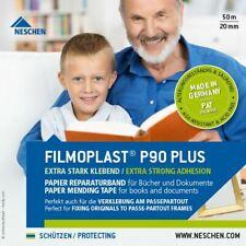 "Neschen Filmoplast P90 Plus White High Adhesion Paper Archival Tape, 3/4"" x 165'"