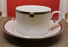 Mikasa Fine China Invitation Platinum Coffee Tea Cup and Saucer Set L5615 Japan