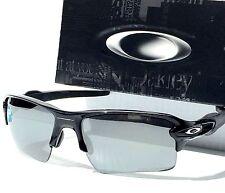 NEW Oakley FLAK JACKET 2.0 Black w Black Iridium Grey Sunglass 9295-19