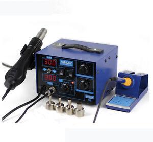 220V YH-862D+  SMD 2 in 1 Soldering Iron Welder Hot Air Handle Rework Station