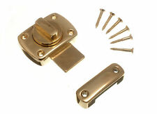 NEW THUMB TURN LATCH DOOR CATCH BRASS PLATED WITH SCREWS ( box  of 48 )