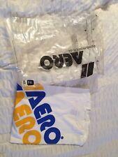 Nos AERO Race Shirt Top BNIP Original vieja escuela de BMX 1980s Azul Amarillo
