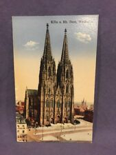 Koln A Rh Dom,  Westseite divided back post card