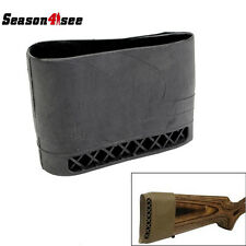 Hunting Rifle Gun Recoil Pad Rubber Slip On Butt Stock Extension Shock Pad BK
