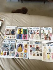 8 Uncut Doll Clothing Sewing Patterns For 18� Dolls American Girl
