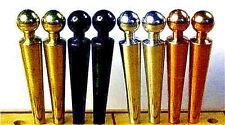 8- SPECTACULAR! Cribbage Pegs 2 Each Brass, Copper, Aluminum, Velvet Pouch a