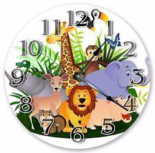 "10.5"" JUNGLE ANIMALS CARTOON CLOCK Large 10.5"" Wall Clock Home Décor Clock- 3030"