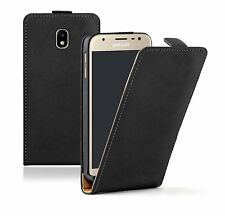 SLIM Nero Samsung Galaxy J3 2017 Cover Custodia Flip in pelle per cellulare