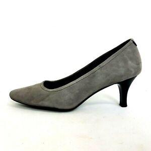 "Rockport Womens Court Shoes UK 8 Grey Suede Adiprene Adidas 2.5"" Heel"