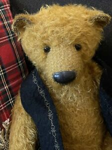 Bonnie Windell Gold Curly Bear With Vest