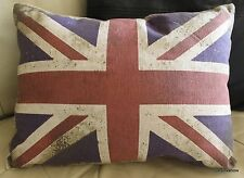 Britain Flag Pillow Case Designer Accent Decorative British Home 12x16 Distress