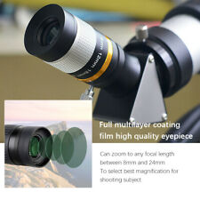 Black 8‑24mm Zoom 1.25 Inch Eyepiece Wideband Green Film Astronomy Observation