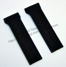 Comp. Porsche Design World Timer P6750 28mm Black Rubber Watch Band-Strap P-6750