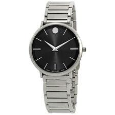 Movado Ultra Slim Black Dial Mens Watch 0607167
