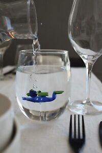 Trinkglas Taucher Taucherglas maritim 600ml handgefertigt mundgeblasen Scuba Div