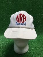 Vintage NRA Patriot hat snapback trucker cap made in USA Red White Blue Gun Ammo