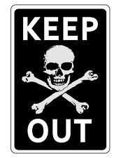 Keep Out Sign Durable Aluminum No Rust Full Color Custom Metal Sign Skull D181