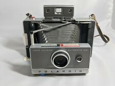 Polaroid 100 Land Camera Zeiss - case, flash - Vintage, manual included UNTESTED