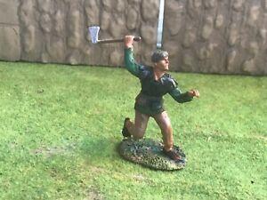 Saxon warrior / peasant. Conte plastic toy Soldier 60 mm