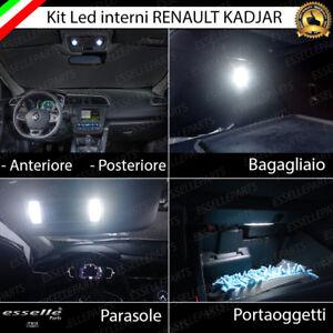 KIT LED INTERNI ABITACOLO RENAULT KADJAR COMPLETO + LUCI DI CORTESIA PARASOLE