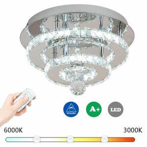 Modern 36W LED Crystal Ceiling Light Flush Mount Crystal Chandelier Decor