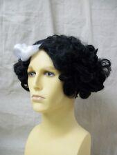 Black White Barber Wig Sweeney Todd Demon Fleet Victorian Vampire Cruella De Vil