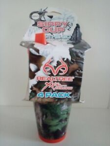 Realtree Camo Double Wall 7OZ Sippy Cup Girls Boys 4 Pack 18+ Months