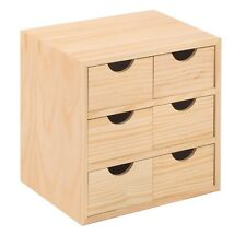 Chest of Drawers Wood Natural Mobile Cabinet Furniture with 6 Tool Holder