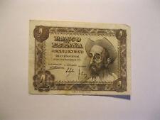 Espagne. Billet de 1 une peseta  type Don Quichotte 1951.