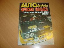 Auto hebdo N°50 Rallye suède.24h de Daytona