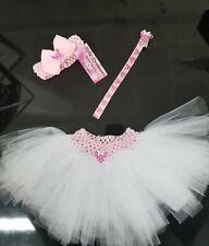 MINNIE MOUSE 3pc Infant Baby Girls Newborn  Headband, Tutu Skirt +Pacifier clip