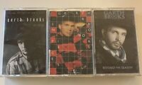 GARTH BROOKS Cassette Tape Lot (3) - Beyond the Season, In Pieces, and No Fences