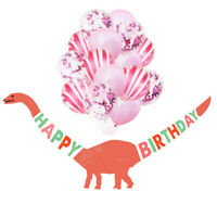 Dinosaur Child Happy Birthday Paper Banner Latex Balloons Bunting Party Decor HL