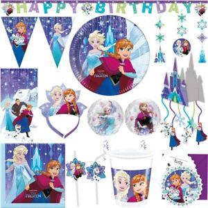 Die Eiskönigin Kindergeburtstag Party Set Deko Geburtstag Elsa Anna Olaf Motto
