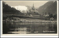 NORGE NORWAY ~ 1925 Balholm Engl. Kirke CHIESA CHURCH AK vecchia cartolina NORVEGIA