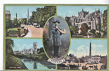 Yorkshire Postcard - Views of Yorkshire - Showing The Horn Blower    E651