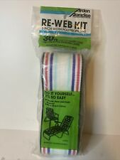 New Arden Paradise Re-Web Chair Webbing Kit 30ft. x 3in. Red White Blue Black