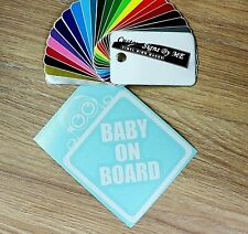 BABY ON BOARD Funny Minion Car Sticker Vinyl Decal Adhesive Window Bumper WHITE