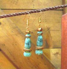 Beaded Earrings, Dangle, Handcrafted, Czech Bead, Boho,Tribal, Ethnic, item #90