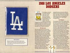 1988 LOS ANGELES DODGERS ~ COOPERSTOWN COLLECTION BASEBALL PATCH Willabee & Ward