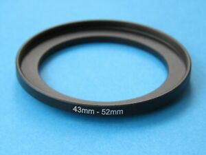 43mm to 52mm Step Up Step-Up Ring Camera Lens Filter Adapter Ring 43mm-52mm