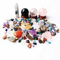 A lot of Natural Quartz Mixed Crystal Gravel Mineral Specimens Healing Gems Gift