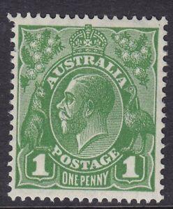 AUSTRALIA 1931-36 KGV SG125 1d GREEN  UNMOUNTED MINT
