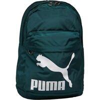 Puma Backpack Bag Originals Rucksack Retro City Travel Dark Green H43cm Unisex