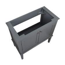 ENKI Vanity console unit floor standing 750mm grey Victorian classic DOWNTON
