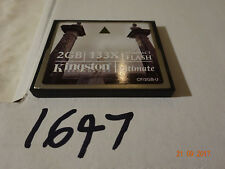 Genuine Kingston 2 GB Compact Flash Memory Card 2GB  133x cf2gb-u ultimate