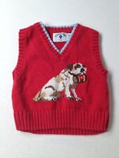 Toddler Boy Kitestrings Red Dog Holiday Sweater Vest 2T