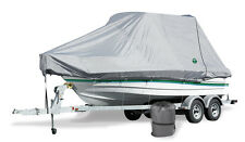 """Trident Full Trailerable T-Top Boat Cover (Fits 28'6""""- 29'5"""" L x 108"""" Beam) Grey"""