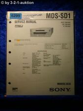 Sony Service Manual MDS SD1 Mini Disc Deck (#6299)
